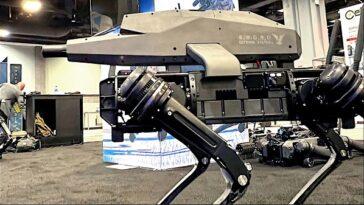 Q-UGV : le robot chien équipé d'un fusil d'assaut