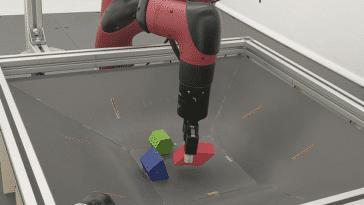 Le RGB-Stacking améliore la capacité des objets à empiler des objets